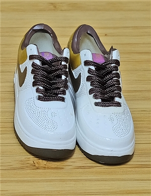 "1/6 Scale Sneakers Nike Air Jordan Shoes for 12"" figure with  white and brown color"