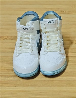 "1/6 Scale Sneakers Nike Air Jordan Shoes for 12"" figure with  light blue color"