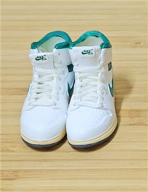 "1/6 Scale Sneakers Nike Air Jordan Shoes for 12"" figure with  white mint green  color"