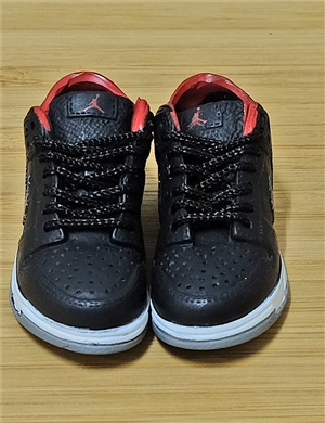 "1/6 Scale Sneakers Nike Air Jordan Shoes for 12"" figure with  Black and Red color"