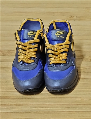 "1/6 Scale Sneakers Nike Air Jordan Shoes for 12"" figure with dark blue color"