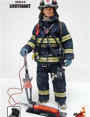 Hot Toys 1/6 Scale Figure Fire Fighter Version 2.0 : Lieutenant AnD Trainee  set