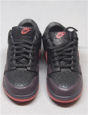 "1/6 Scale Sneakers Nike Shoes for 12"" figure with black and red color"