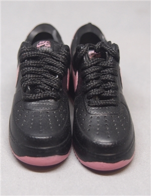 "1/6 Scale Sneakers Nike Shoes for 12"" figure with black and pink color"