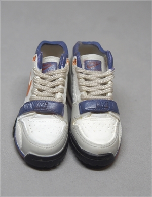 "1/6 Scale Sneakers Nike Air Shoes for 12"" figure with grey and blue color"