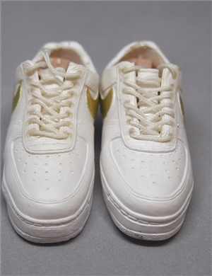 "1/6 Scale Sneakers Nike Shoes for 12"" figure with white color"