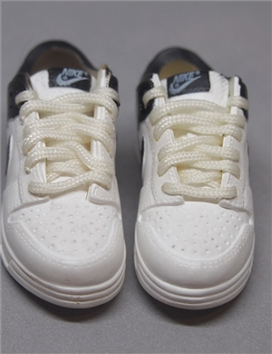 "1/6 Scale Sneakers Nike Shoes for 12"" figure with white and black color"