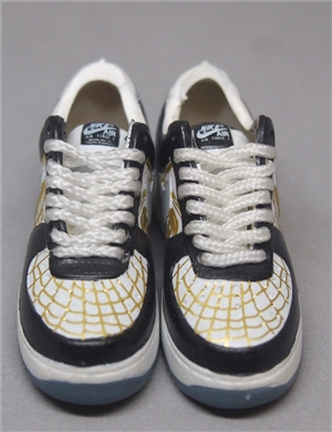 "1/6 Scale Sneakers Nike Air Max Shoes for 12"" figure with black and gold color"