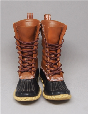 ACI TOYS 1/6 FASHION BOOTS  OUTDOOR HUNTING BOOTS: LIGHT BROWN