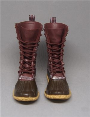 ACI TOYS 1/6 FASHION BOOTS  OUTDOOR HUNTING BOOTS DARK  BROWN