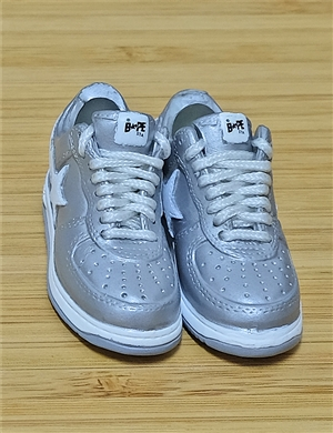 "1/6 Scale Sneakers Nike Air Jordan Shoes for 12"" figure with silver star color"