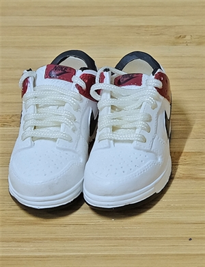 "1/6 Scale Sneakers Nike Air Jordan Shoes for 12"" figure with burgundy and white color"