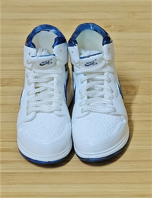 "1/6 Scale Sneakers Nike Air Jordan Shoes for 12"" figure with  white blue color"
