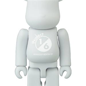 BE@RBRICK TONE ON TONE WHITE 100%
