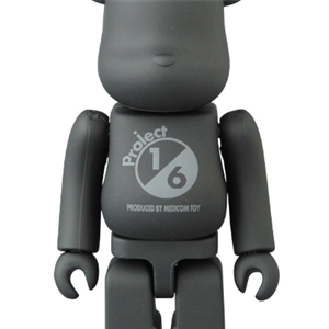 BE@RBRICK TONE ON TONE BLACK 100%
