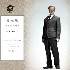 POPTOYS X26D 1/6 Standard Western-style clothes suit Dark gray