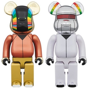 BE@RBRICK DAFT PUNK DISCOVERY Ver. 2 PACK 400% BEARBRICK 2018