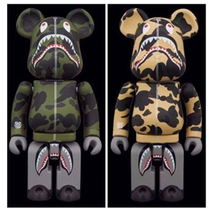 A BATHING APE BAPE PLAY 200% METAL BEARBRICK SET