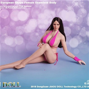 JIAOU DOLL JOQ-09F-KT004 KT004  New White Skin 1/6 European Shape Non Detachable Foot Big Bust Female Body Action Figure Collectibles Toys