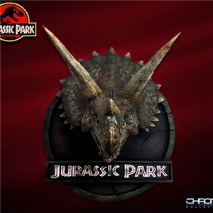 ChronicleCollectibles  JURASSIC PARK 1:5 SCALE TRICERATOPS BUST