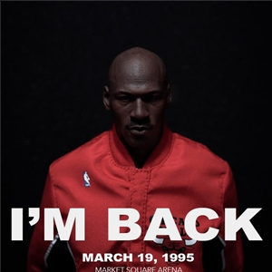 "MICHAEL JORDAN Series ""I'M BACK #45"" Away VERSION Limited Edition (Red)"