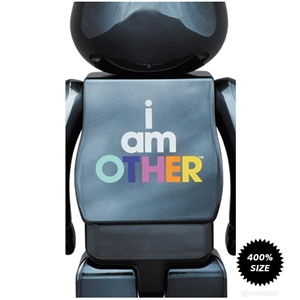BE@RBRICK  I Am Other BLACK 400% Bearbrick by Pharrell Williams x Medicom To.