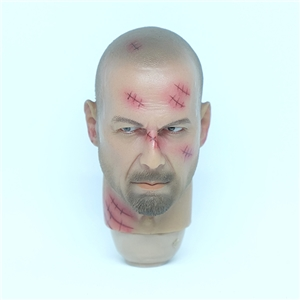 1/6 Scale Bruce Willis Head Sculpt Damage version