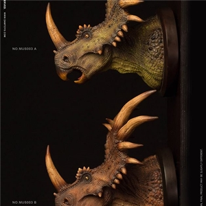 DAMTOYS MUSEUM SERIES: Stracosaurus BUST COLLECTIBLE STATUE  NO. MUS004A/B
