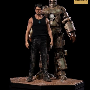Iron Studios Art Scale 1/10 Tony Stark & Mark I  Deluxe