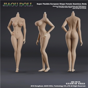 JIAOU DOLL JOQ-10E-YS Stainless Steel 1/6 female Nude Seamless Body Action Figure in  Natural Skin