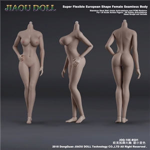 JIAOU DOLL JOQ-10E-BS01 Stainless Steel 1/6 female Nude Seamless Body Action Figure New Wheaten Skin