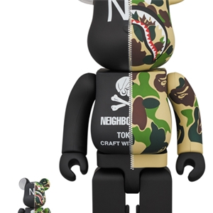 BE@RBRICK × BAPE(R) × NEIGHBORHOOD(R) 400+100%