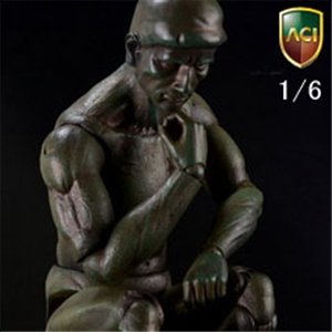 Action Statue The Thinker Bronze Color