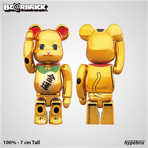 Bearbrick - SKy Tree Lucky Cat Be@rbrick Gold 400%+100%