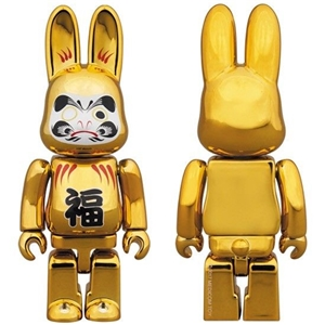 bearbrick rabbit gold daruma 400%