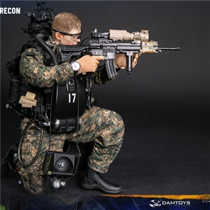 DAM-78055 DAM Toys Marine Force Recon Combat Diver Woodland Marpat Version 1/6 Figure