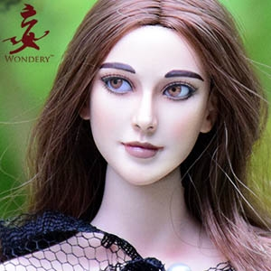 WONDERY: 1/6 Angela Movable Eye Female Head Carved (WLS003)