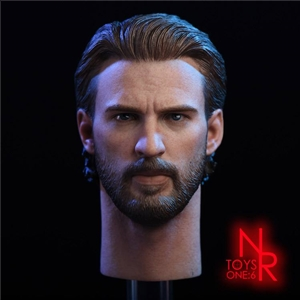 NRTOYS NR08 1/6 Captain 6.0 headsculpt Fulian 3 beard version Send metal shield