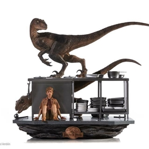 Iron Studio Jurassic Park  Art Scale 1/10  Velociraptor in the Kitchen Diorama